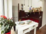 Необычная дизайнерская квартира в Киеве мансарда последний этаж Борщаговская 30